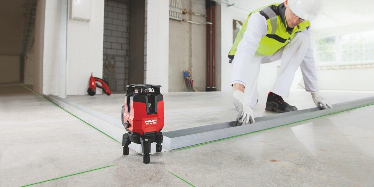 Hilti PM 40-MG multi-line green laser for squaring